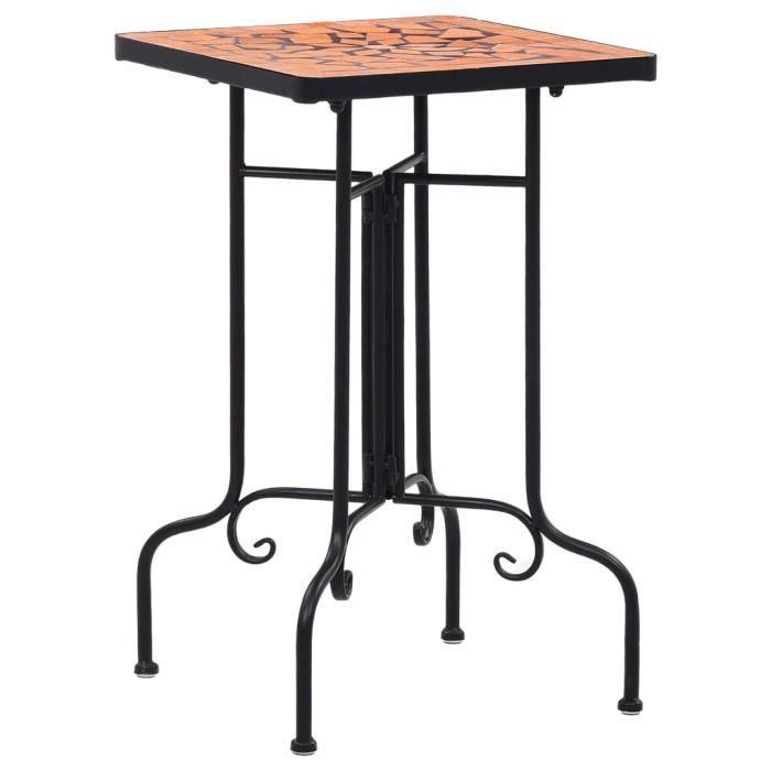 Table de bistro mosaïque Terre cuite Céramique -PAI