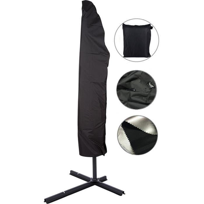 Housse pour Parasol Housse de Protection Parasol Imperméable Résistant à UV Intempéries avec Sac de Rangement ,280cm - 30*81*46cm