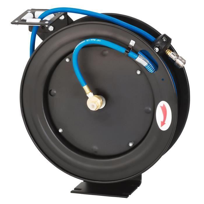 KRAFTPLUS® K.985-8415 Enrouleur à tambour 1-4' air comprimé 15m auto-rétractable