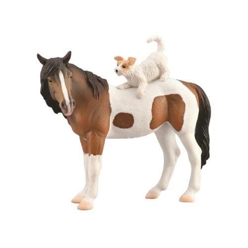 Collecta animaux de ferme chien de cheval junior 12,5 cm brun/blanc