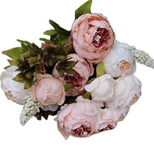 YX Fleurs 1 Bouquet 8 Têtes Artificielle Pivoine Soiers Artificielles Haut de Gamme Cinq Couleurs Pivoine de S..... - YXCIB1205A2418