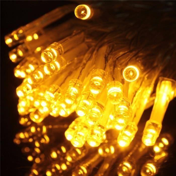 200 LED 20M Guirlande electrique lumineuse interieure noël fête mariage déco EU PRISE Jaune My09626 Mo16821
