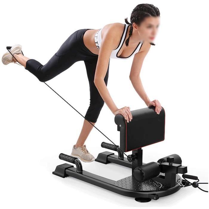 BANC DE MUSCULATION ZMJ Banc Sissy Squat Extension De Jambe Curl Curl Machine &Eacutequipement d'exercice R&eacuteglable pou659