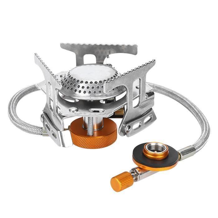 Brûleur à gaz, cuisinière à gaz extérieure, cuisinière à gaz portable, acier inoxydable résistant à la corrosion et