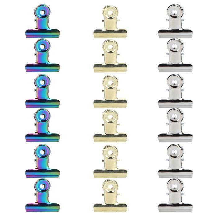 Drfeify Pinces à pincer les ongles 18 pièces pince d'extension d'ongle en acier inoxydable pince de fixation pince à papier