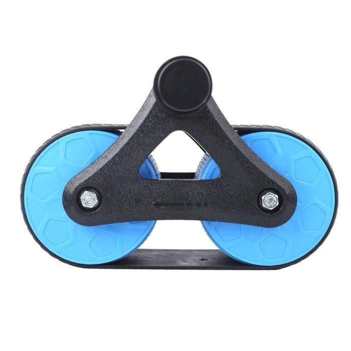 YOSOO Rouleau 2 roues Rouleau de Roues Rebond Exerciseur Abdominal Domestique Équipement de Fitness Push-Up Muet Bleu