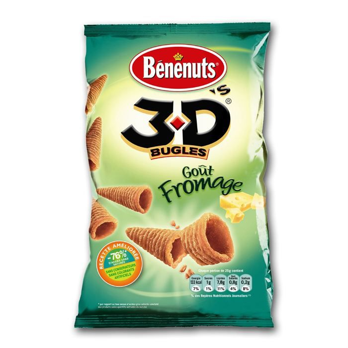 Bugles goût fromage 85 g BENENUTS