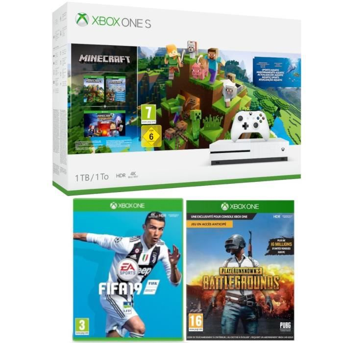 Xbox One S 1 To Minecraft + Fifa 19 + PUBG