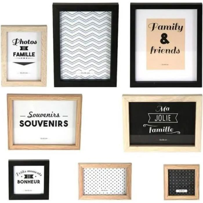 THE HOME DECO FACTORY Lot de 8 Cadres Photo M6