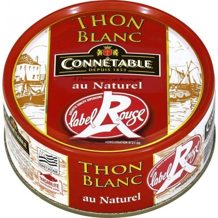 Connetable Thon blanc au naturel Label Rouge