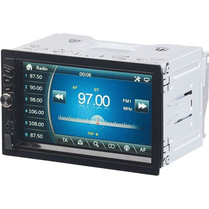 Autoradio 2-DIN avec écran tactile et bluetooth (4x 45 W) CAS-4445.bt