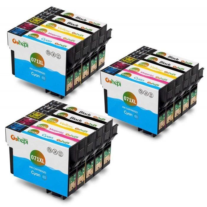 cartouche d imprimante compatible epson t0711 t0712 t0713...