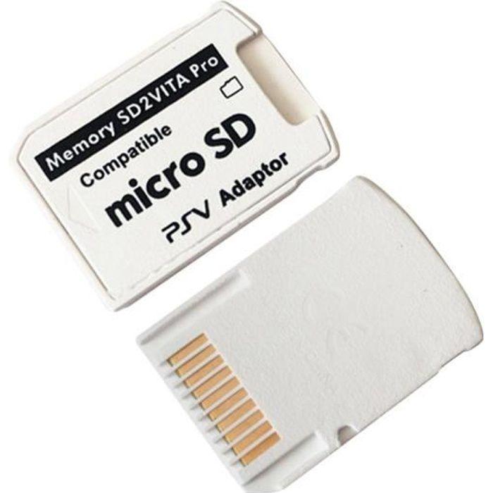 Version 5.0 Adaptateur SD2VITA pour carte mémoire PS Vita TF pour carte de jeu PSVita