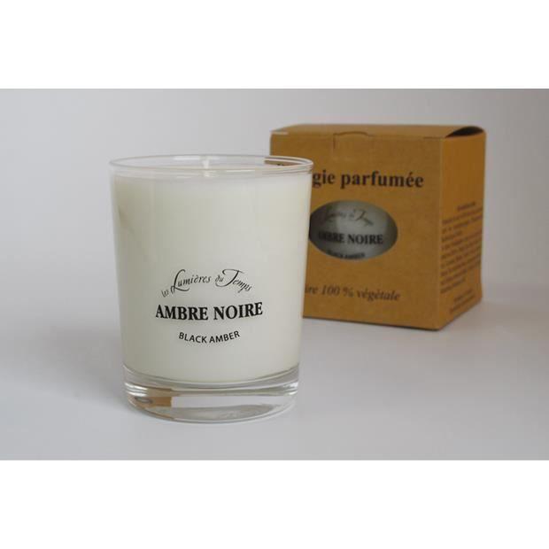 Bougie parfumée à l'ambre noire (180gr.)