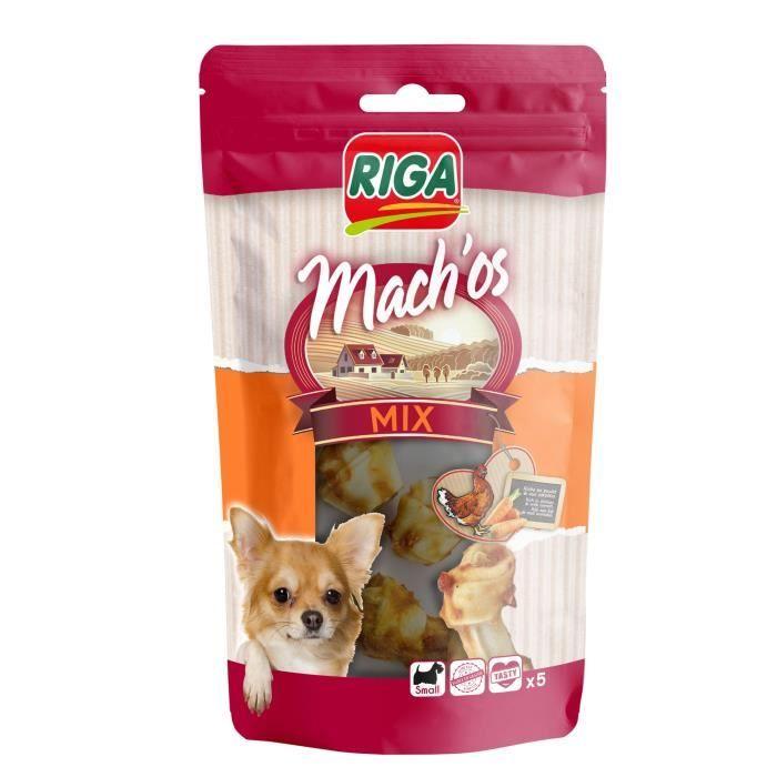 RIGA - MACH'OS MIX NŒUD POULET CAROTTE PM X 5 DISPLAY-SACHET 60 G