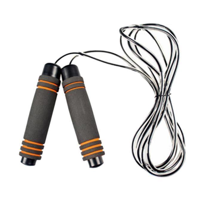 Meilleure corde à sauter avec des poignées en mousse à mémoire de forme et cordes à rapides