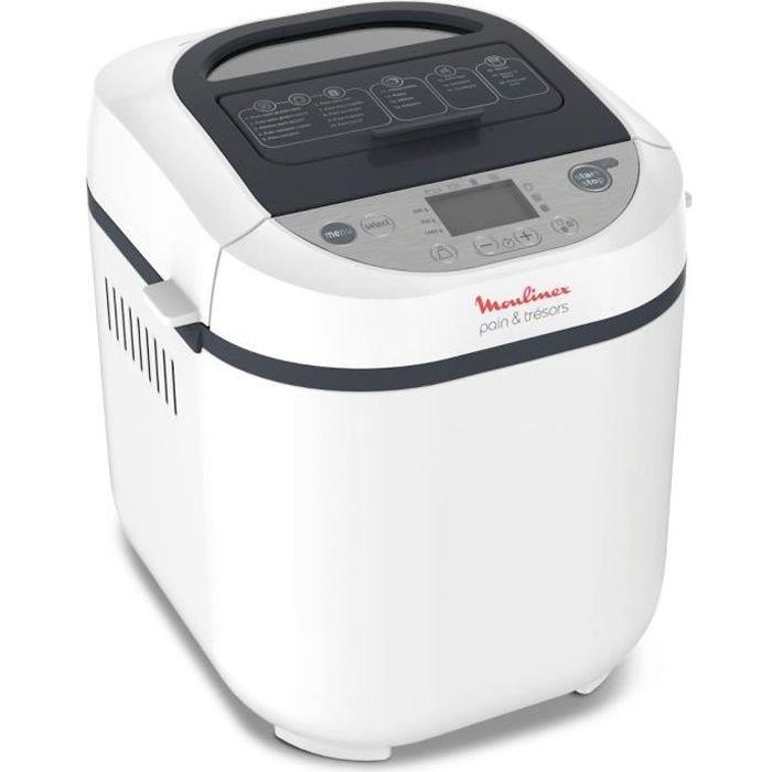MOULINEX OW250110 Machine à pain PAIN ET TRESORS - Blanc et gris