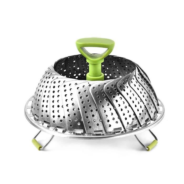 Kitchencraft Acier inoxydable pliant Casserole Panier vapeur 23 cm 9
