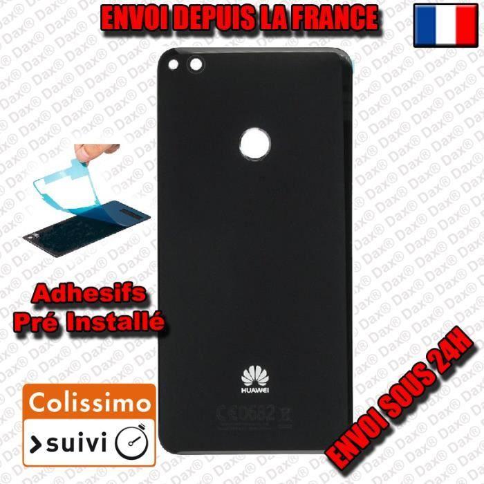 ECRAN DE TÉLÉPHONE VITRE ARRIERE SUR CHASSIS HuaWei P8 Lite NOIR VITR