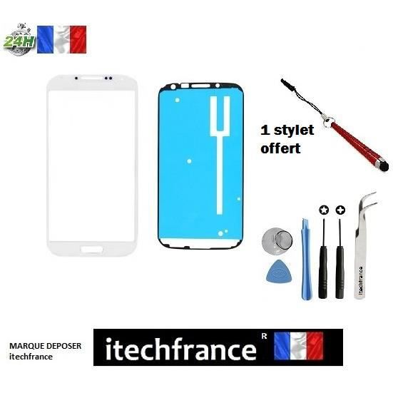 vitre tactile samsung galaxy s4 mini i9190 i9195 i9192 blanc kit outils stylet offert pince. Black Bedroom Furniture Sets. Home Design Ideas