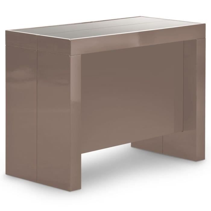 Table console extensible h ra taupe achat vente table manger table cons - Cdiscount console extensible ...