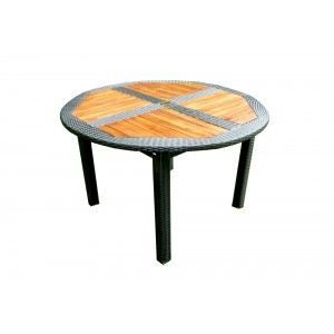 Table Ronde Pliante De Jardin En Teck En R Sine Achat Vente Table De Jardin Table Ronde