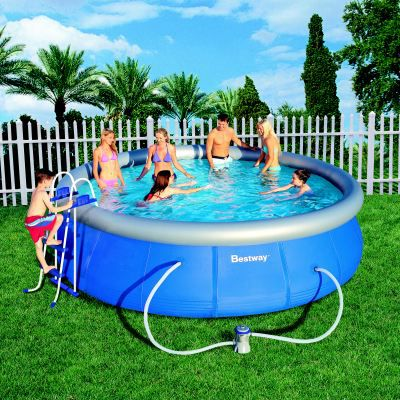 Piscine autoportante bestway 4 57 x 1 07m achat vente for Piscine autoportante