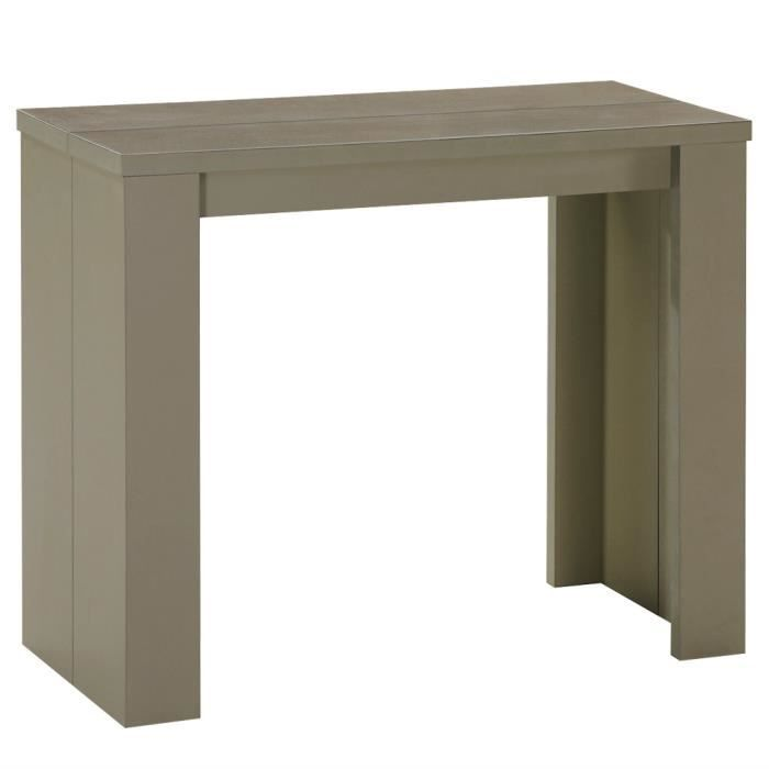 console extensible pas cher 3 rallonges taupe prisca achat vente console extensible console. Black Bedroom Furniture Sets. Home Design Ideas