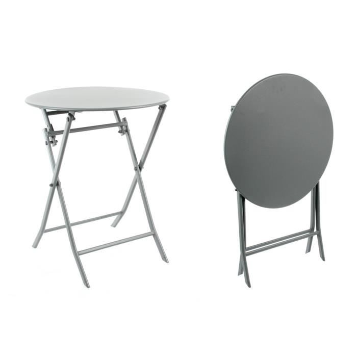Table Ronde Greensboro Pliante 60 Cm Ardoise Hesp Ride