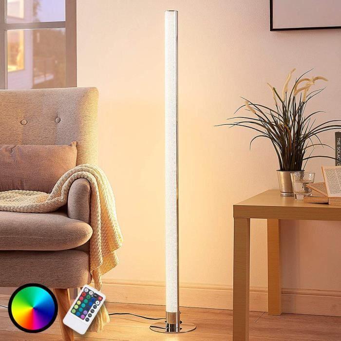 lampadaire bois r/étro aluminium 35 W effet bois lampadaire WOFI Lampe dint/érieur lampadaire intensit/é variable lampadaire salon
