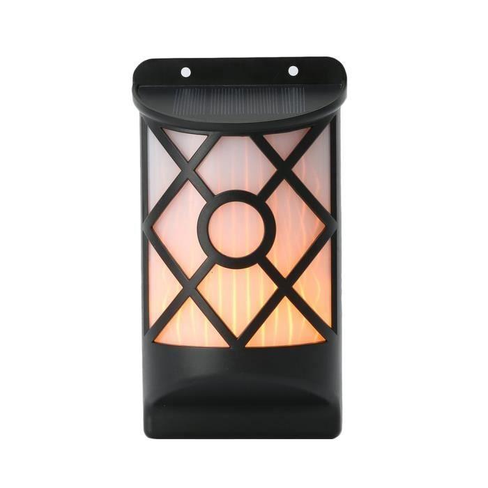 2x Solaire Lampe de jardin Imperméable LED clignotant Torche de flamme Paysage