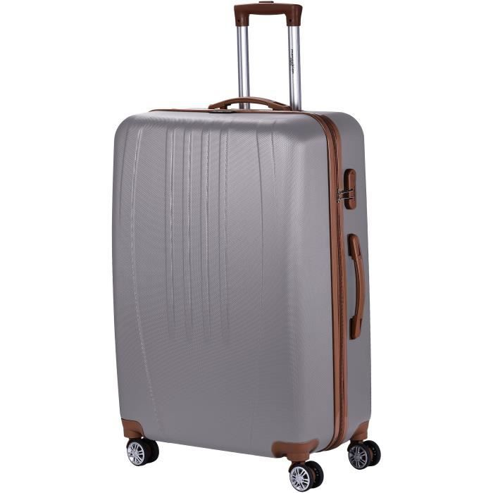 VALISE - BAGAGE MANOUKIAN Valise Chariot ABS  4 Roues 72 cm Argent