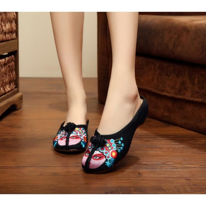 Sandales Chaussures Femme Peking Opera Graphics