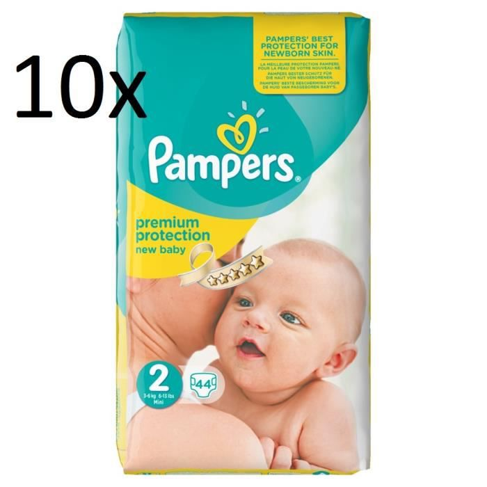 Pampers new baby taille 2 mini 3 6kg sparpack 440 couches achat vente couche 2009927322910 - Couche pampers new baby taille 2 ...