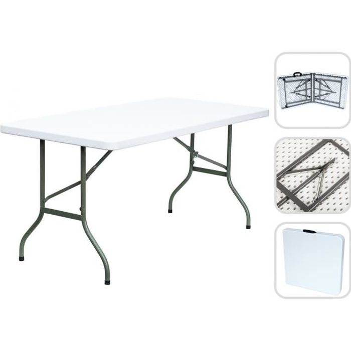Table Traiteur Pliante 124 Cm Table Camping Achat Vente Table De Jardin Table Traiteur