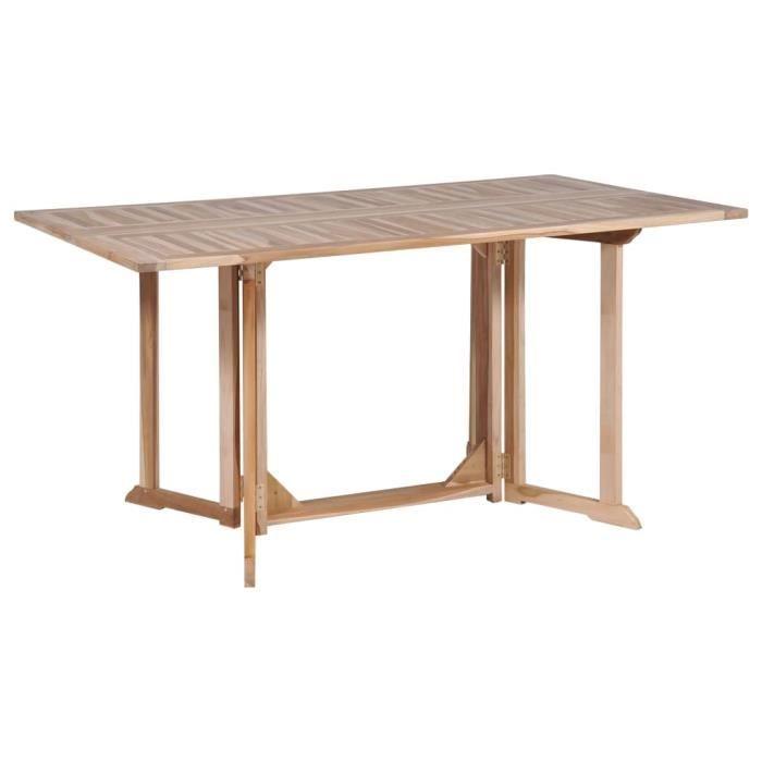 VidaXL Table pliable de jardin papillon 150x90x75 cm Bois ...
