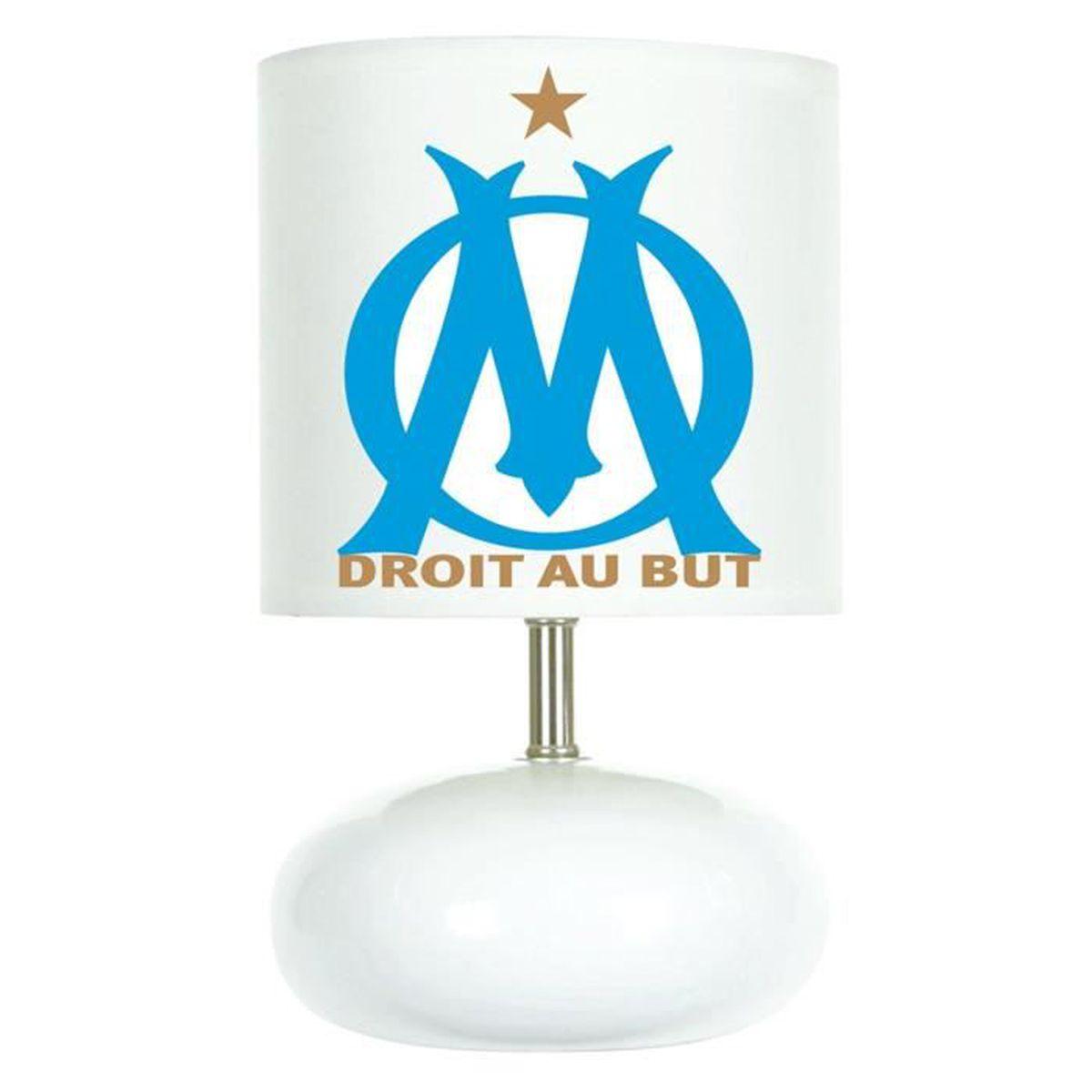 Lampe de chevet FOOT cr/éation artisanale OM OLYMPIQUE DE MARSEILLE