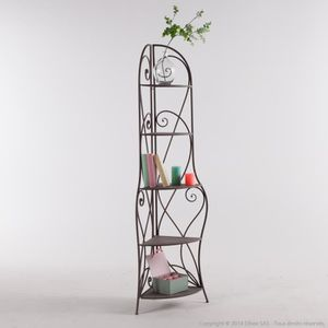 Etagere angle fer forge achat vente etagere angle fer for Meuble en fer forge pas cher