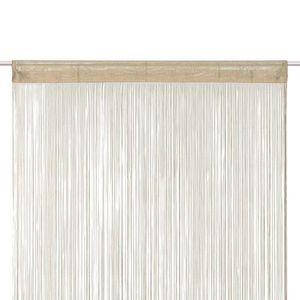 RIDEAU Rideau ruban Fil - 90 x 200 cm - Couleur Lin