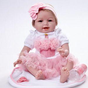 POUPON Poupée Reborn réaliste 55CM Reborn Baby Doll Poupé