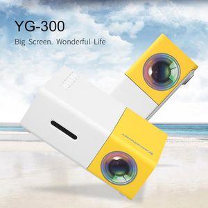 Vidéoprojecteur YG300 Vidéo Projecteur 1080P 50 Lumens Jaune et Bl