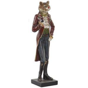 STATUE - STATUETTE Statuette Figurine Animal Renard Napoléon déco - h