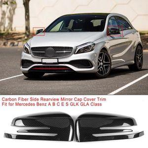 A B C D E G Cla Gla GLK GL CUHAWUDBA Cache de Cadre de Phare Convient pour Mercedes Accessoires Int/éRieurs de Voiture en Fibre de Carbone