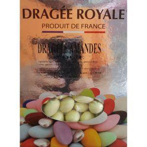 DRAGÉES Coffret de Dragée aux amandes Ivoire 1KG Blanc