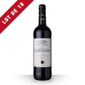 VIN ROUGE 18X Château la Moulière 2014 Rouge 75cl AOC Côtes