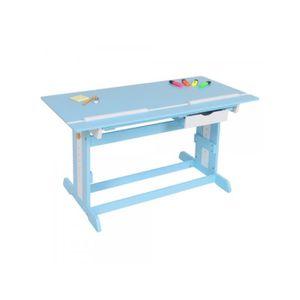 BUREAU  Bureau enfant meuble chambre bleu plateau inclinab