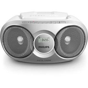 RADIO CD CASSETTE Philips AZ215S Lecteur CD,CD-R,RW Portable, Facile