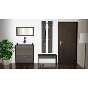 penderie wenge achat vente penderie wenge pas cher cdiscount. Black Bedroom Furniture Sets. Home Design Ideas