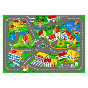 TAPIS DE JEU Tapis de route 133 x 95 cm chambre enfant voiture