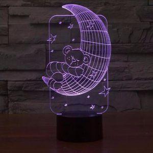 LAMPE A POSER J'aime Vous Lune 3D Nuit Lumière LED Lampe 7 Color